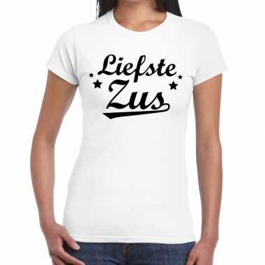 Liefste zus fun t-shirt wit voor dames prijs
