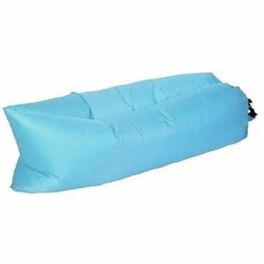 Lounge luchtbed blauw opblaasbaar 220 x 70 cm prijs