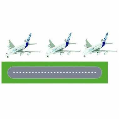 Luchthaven landingsbaan diy speelgoed stratenplan/ kartonnen speelkle