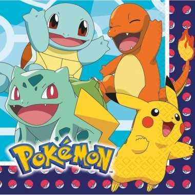 Lunchservetten pokemon 48 stuks tafeldecoratie prijs
