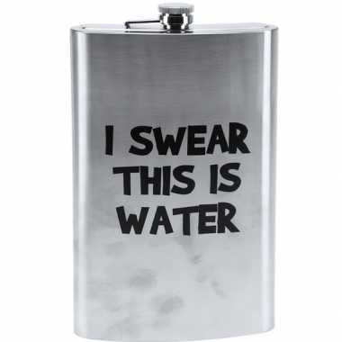 Mega heupflacon 1800 ml this is water prijs