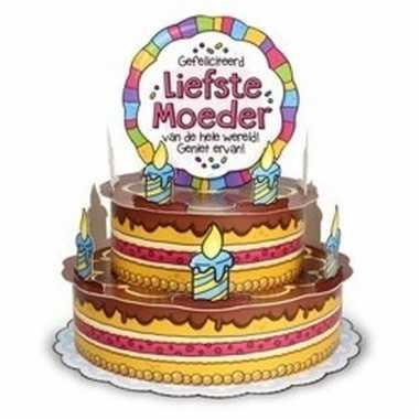 Mega taart wenskaart voor mama/moederdag prijs