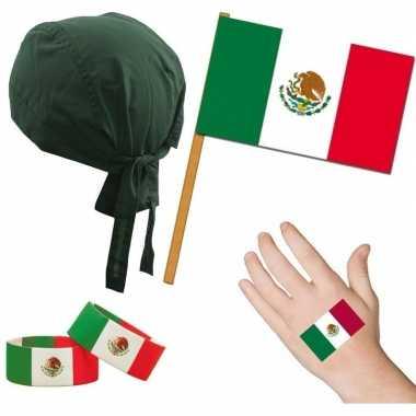 Mexicaanse fan/supporter verkleed set voor volwassenen prijs