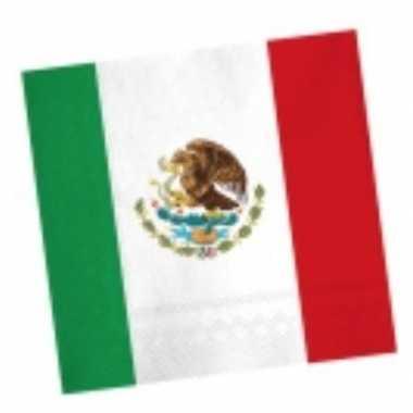 Mexicaanse servetten 20 stuks prijs