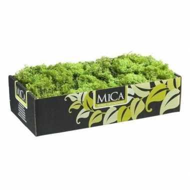 Mica decoratie rendiermos groen 500 gram/0,5 kilo prijs