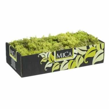Mica decoratie rendiermos lichtgroen 500 gram/0,5 kilo prijs