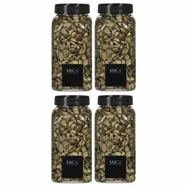Mica decoratie stenen/kiezels goud 4 kg/kilo prijs