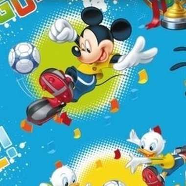 Mickey mouse geschenkpapier blauw prijs