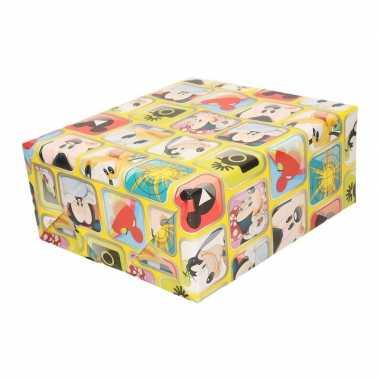 Mickey mouse geschenkpapier geel prijs