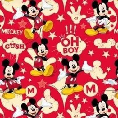 Mickey mouse geschenkpapier rood prijs
