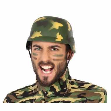 Militairen verkleed helm camouflage voor volwassenen prijs