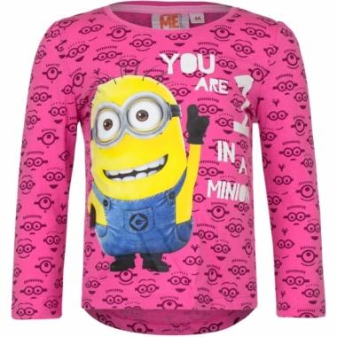 Minion t-shirt fuchsia prijs