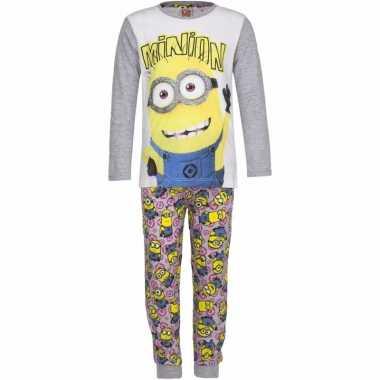 Minions meiden pyjama grijs prijs