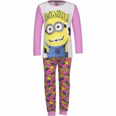 Minions meiden pyjama roze prijs