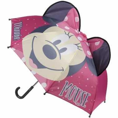 Minnie mouse oren kinderparaplu roze voor meisjes prijs