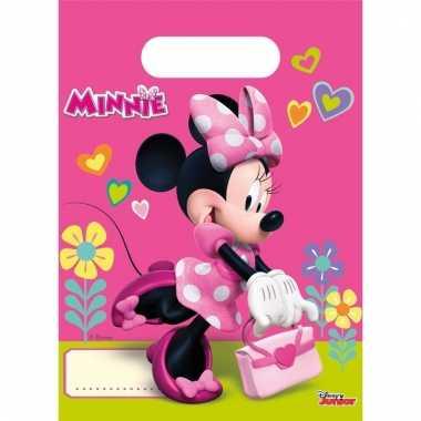 Vergelijk minnie mouse uitdeelzakjes 6 stuks prijs