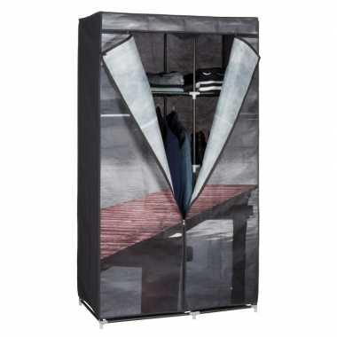 Mobiele kledingkast/garderobekast lake met rits 160 cm prijs