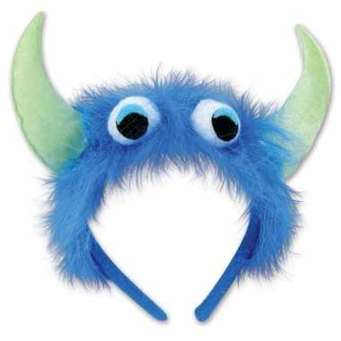 Monster verkleed diadeem blauw/groen prijs