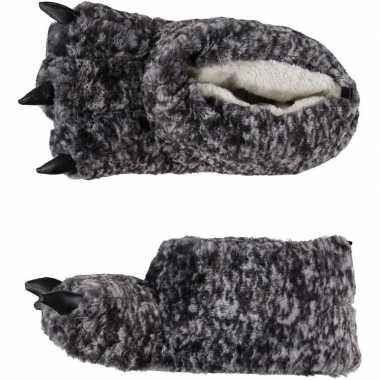 Monsterpoot pantoffels grijs mt 43-44 prijs