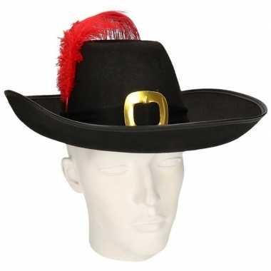 Musketier hoed met zwarte band prijs
