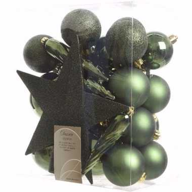 Nature christmas kerstboom decoratie set 33-delig prijs