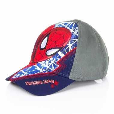 Vergelijk navy blauwe spiderman cap voor kinderen prijs