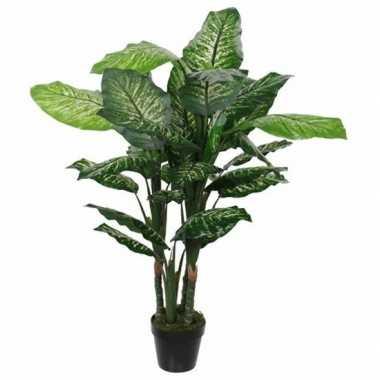 Nep planten groene dieffenbachia kunstplanten 120 cm met pot prijs