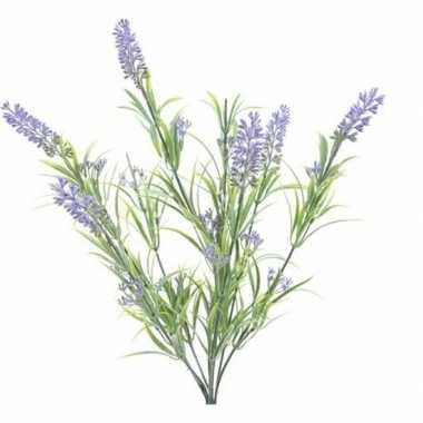 Nep planten groene/lilapaarse lavandula lavendel kunstplanten 44 cm b