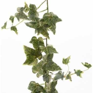 Nep planten groene/witte hedera helix klimop hangplant kunstplanten 1