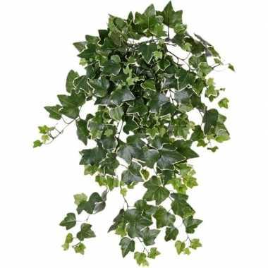 Nep planten groene/witte hedera helix klimop weerbestendige kunstplan