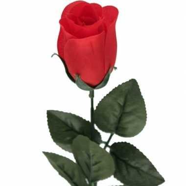 Nep planten rode rosa roos kunstbloemen 60 cm decoratie prijs