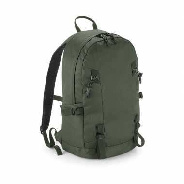 Olijf groene rugtas voor wandelaars/backpackers 20 liter prijs