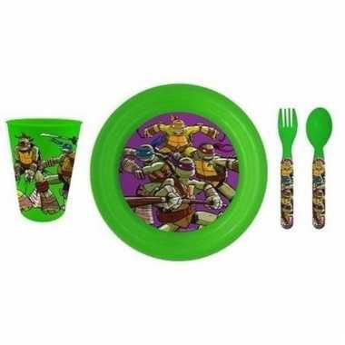 Ontbijtset turles met 3d bord voor kinderen prijs