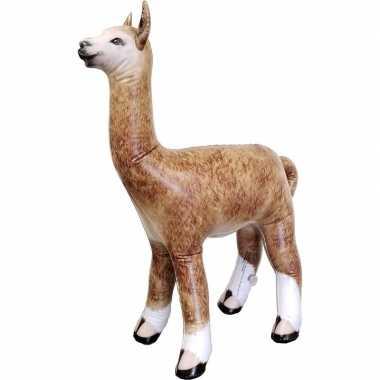 Opblaas alpaca/lama dieren 75 cm realistische print prijs
