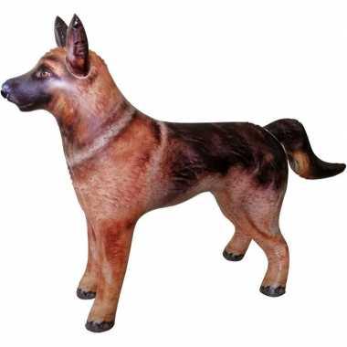 Opblaas duitse herdershond dieren 75 cm realistische print prijs