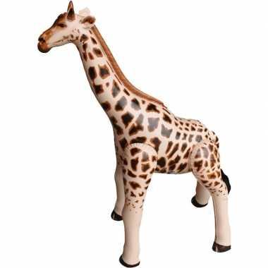 Opblaas giraffe dieren 90 cm realistische print prijs