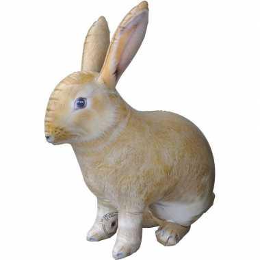 Opblaas konijn/haas dieren 75 cm realistische print prijs