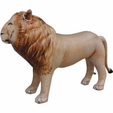 Opblaas leeuw dieren 60 cm realistische print prijs