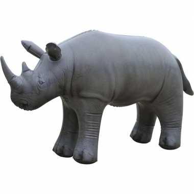 Opblaas neushoorn dieren 45 cm realistische print prijs