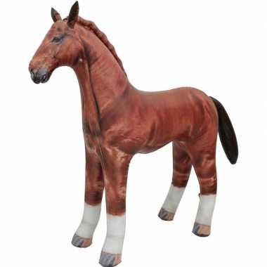 Opblaas paard dieren 75 cm realistische print prijs
