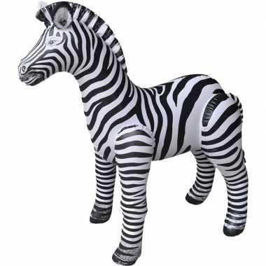 Opblaas zebra dieren 140 cm realistische print prijs