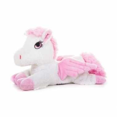 Opwarmbare knuffel witte unicorn 18 cm prijs