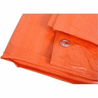 Oranje afdekzeil / dekkleed 5 x 6 m prijs