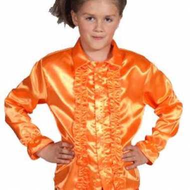 Oranje blouse met rouches kids prijs