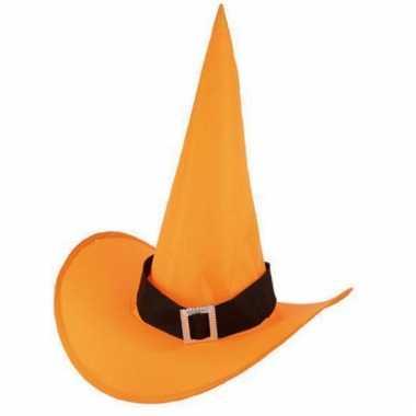 Oranje heksenhoed voor volwassenen prijs