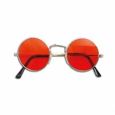 Oranje hippie bril prijs