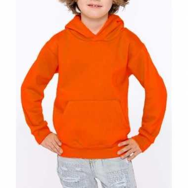 Oranje meisjes truien/sweaters met hoodie/capuchon prijs
