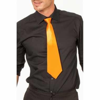 Oranje verkleed stropdassen 41 cm voor dames/heren prijs