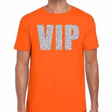 Oranje vip zilver fun t-shirt voor heren prijs