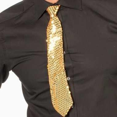 Oud en nieuw gouden glitter verkleed stropdassen 32 cm voor dames/her